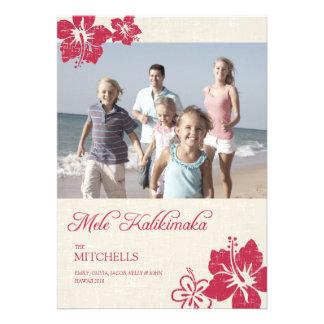 Hawaiian Christmas Cards Custom Invites