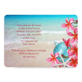 Hawaiian Christmas Party Invitation