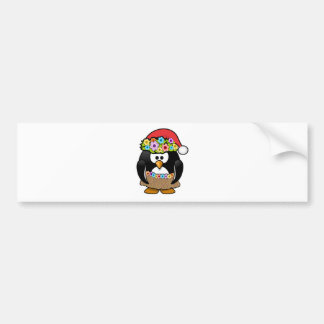 Hawaiian Christmas Penguin Bumper Stickers