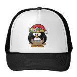 Hawaiian Christmas Penguin Mesh Hat