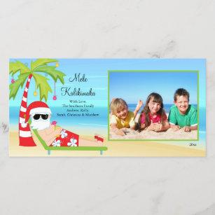 Hawaiian christmas cards zazzle hawaiian christmas santa christmas photo card holiday card m4hsunfo