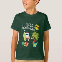 Hawaiian Christmas. Santa Claus  Mele Kalikimaka. T-Shirt