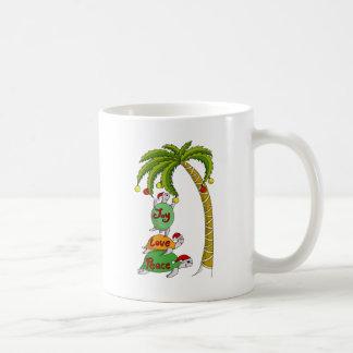 Hawaiian Christmas Turtle Santas Coffee Mug