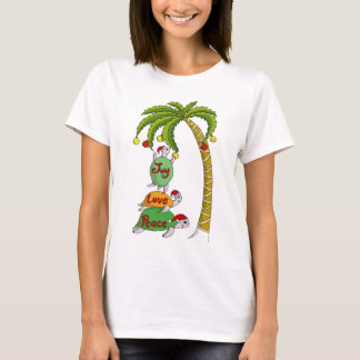 Hawaiian Christmas Turtle Santas T-Shirt
