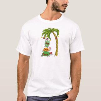 Hawaiian Christmas Turtle Santas T-Shirt