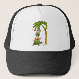 Hawaiian Christmas Turtle Santas Trucker Hat