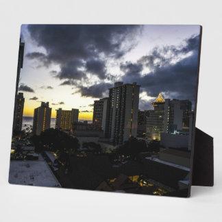 Hawaiian City Sunset Display Plaques