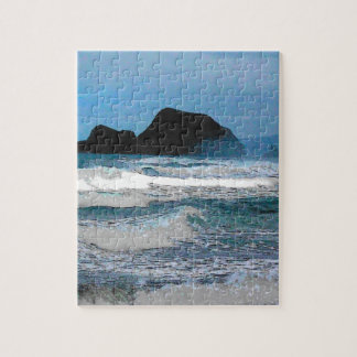 Hawaiian Coast Blue Sky Jigsaw Puzzle