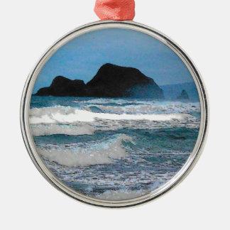 Hawaiian Coast Blue Sky Ornament