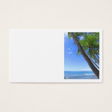 Beach Themed Hawaiian Coconut Palms Business Card