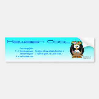 Hawaiian Cool Drink Recipe Car Bumper Sticker