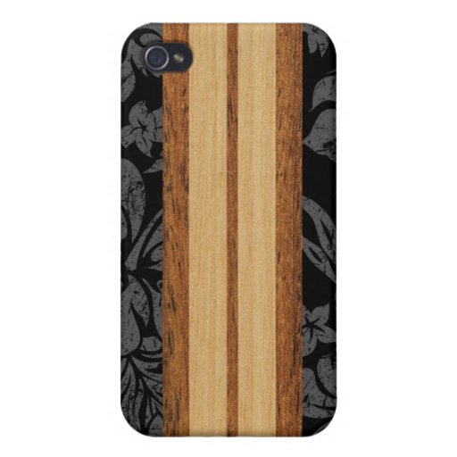 Hawaiian de la tabla hawaiana de la playa de la pu iPhone 4 carcasa