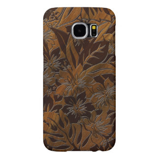 Hawaiian de madera de la playa de Anini falso Fundas Samsung Galaxy S6