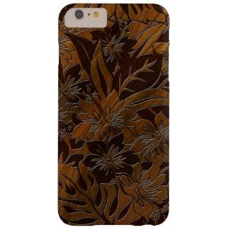 Hawaiian de madera de la playa de Anini falso Funda De iPhone 6 Plus Barely There