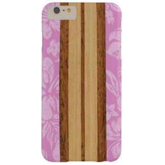 Hawaiian de madera de la tabla hawaiana de la funda de iPhone 6 plus barely there