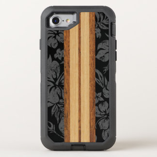 Hawaiian de madera de la tabla hawaiana de la funda OtterBox defender para iPhone 7