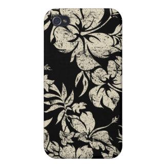 Hawaiian de Pareau del hibisco iPhone 4/4S Fundas