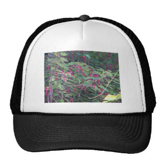 Hawaiian deep purple flowers trucker hat