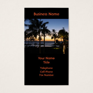 Hawaiian Destination Business Card