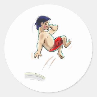 hAwAiiAn DiVeR Classic Round Sticker