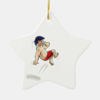 hAwAiiAn DiVeR Double-Sided Star Ceramic Christmas Ornament