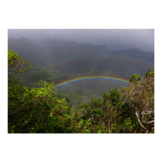 Hawaiian Double Rainbow Poster