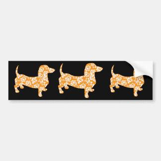 Hawaiian Doxie Dachshund Bumper Sticker