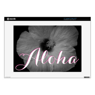 "Hawaiian Dreams in Black and White 15"" Laptop Decal"