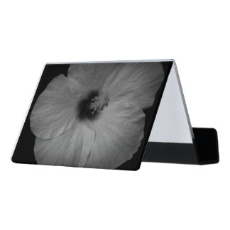 Hawaiian Dreams in Black and White Desk Business Card Holder