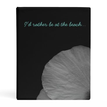 Beach Themed Hawaiian Dreams in Black and White Mini Binder
