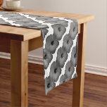 Hawaiian Dreams in Black and White Short Table Runner