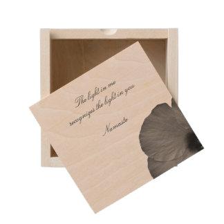 Hawaiian Dreams in Black and White Wooden Keepsake Box