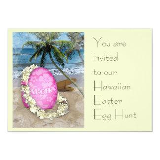 Hawaiian Easter Egg Hunt Card