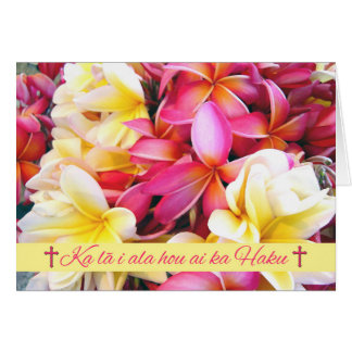 Hawaiian Easter, Protestant Blessing Card