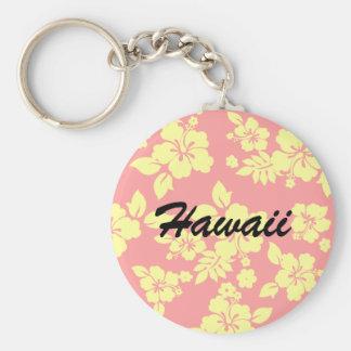 Hawaiian en colores pastel llavero redondo tipo pin