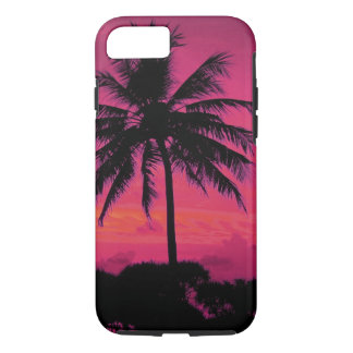 Hawaiian Exotic Palm Tree Silhouette iPhone 7 Case