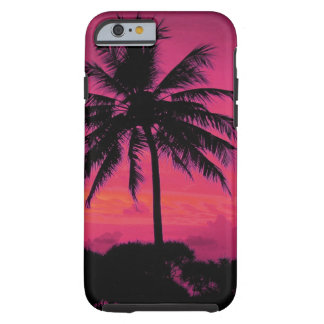 Hawaiian Exotic Palm Tree Silhouette Tough iPhone 6 Case