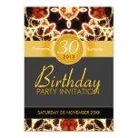 Hawaiian Fire Art Celebration Birthday Invitation