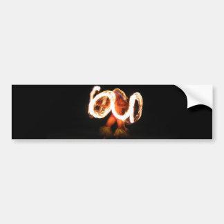 Hawaiian Fire Dance Bumper Stickers