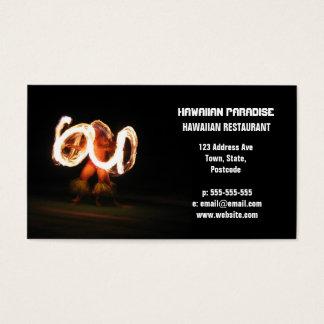 Hawaiian Fire Dance Business Card