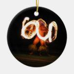 Hawaiian Fire Dance Christmas Ornaments