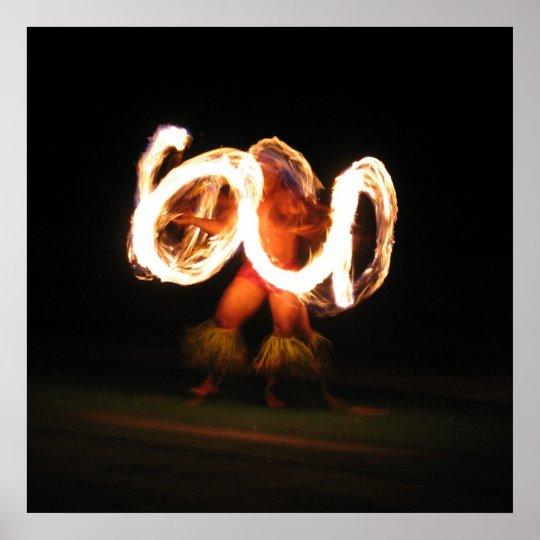 Hawaiian Fire Dance Poster