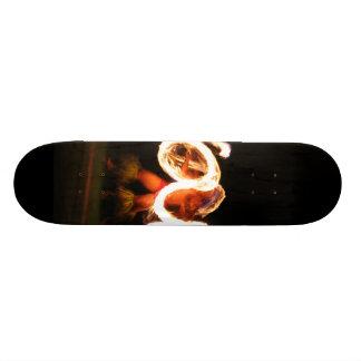 Hawaiian Fire Dance Custom Skate Board