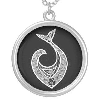 Hawaiian Fish Hook Silver Plated Necklace