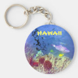 Hawaiian Fish Keychain Basic Round Button Keychain
