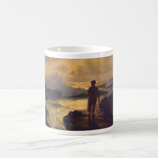 Hawaiian Fisherman, oil on canvas Classic White Coffee Mug