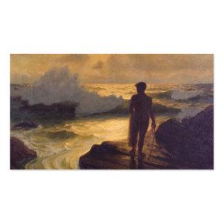 Hawaiian Fisherman, oil on canvas painting Business Card Templates