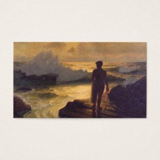 Hawaiian Fisherman, oil on canvas painting Business Card