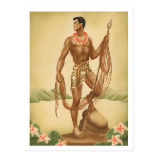 Hawaiian Fisherman Postcard