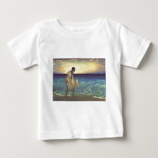 Hawaiian Fisherman, woodblock print Baby T-Shirt
